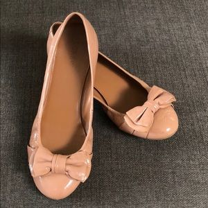 J Crew CeCe Patent Ballerina Flat With Bow